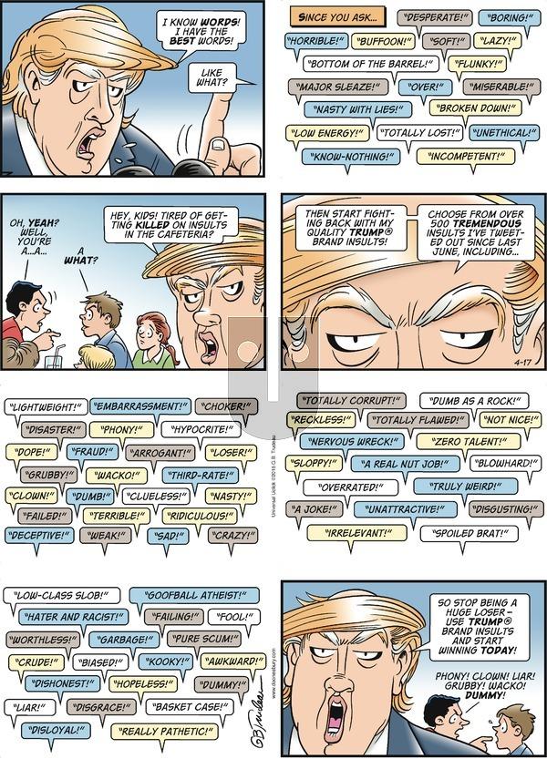 Doonesbury on Sunday April 17, 2016 Comic Strip