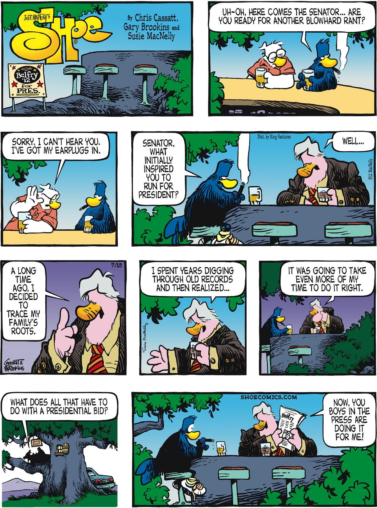 Shoe for Jul 15, 2012 Comic Strip