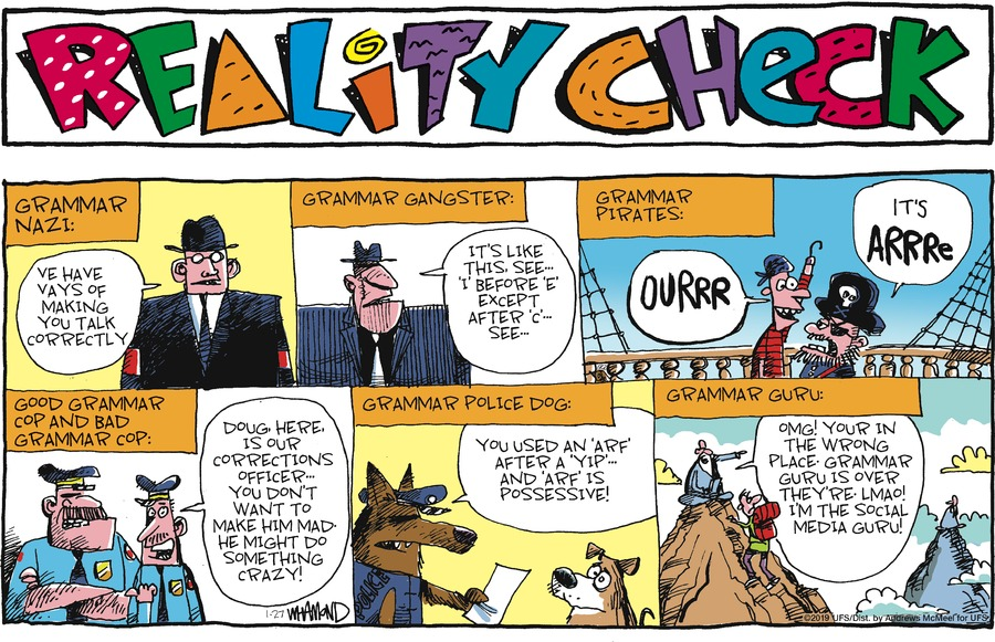 Reality Check Comic Strip for January 27, 2019