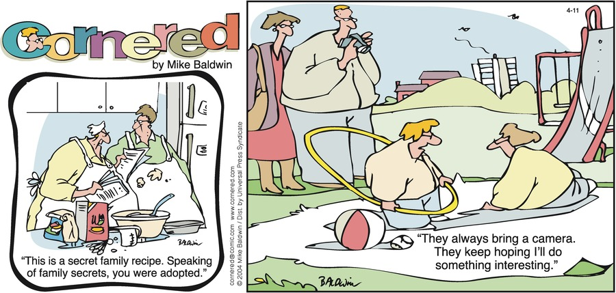 Cornered Comic Strip for April 11, 2004