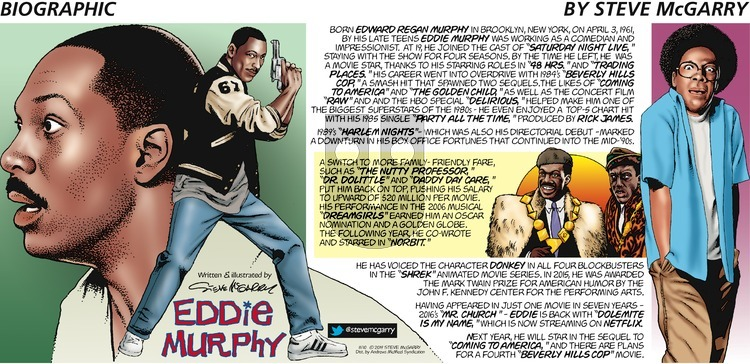 Biographic on Sunday November 10, 2019 Comic Strip