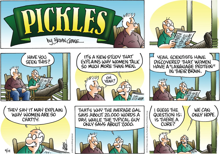 Pickles for Apr 14, 2013 Comic Strip