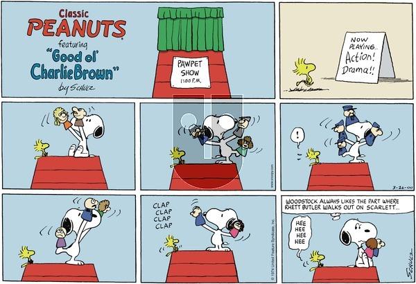 Peanuts - Sunday March 26, 2000 Comic Strip