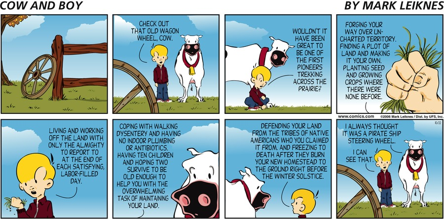 Cow and Boy Classics Comic Strip for October 22, 2006