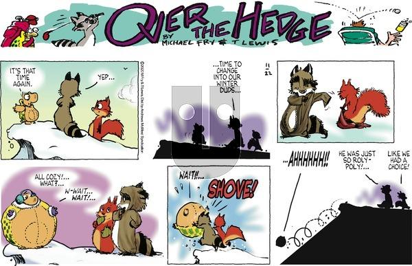 Over the Hedge on Sunday November 22, 2020 Comic Strip