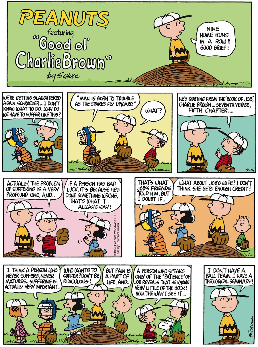 Peanuts Comic Strip for September 14, 2014