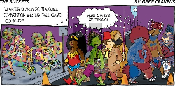 The Buckets on Sunday November 23, 2014 Comic Strip