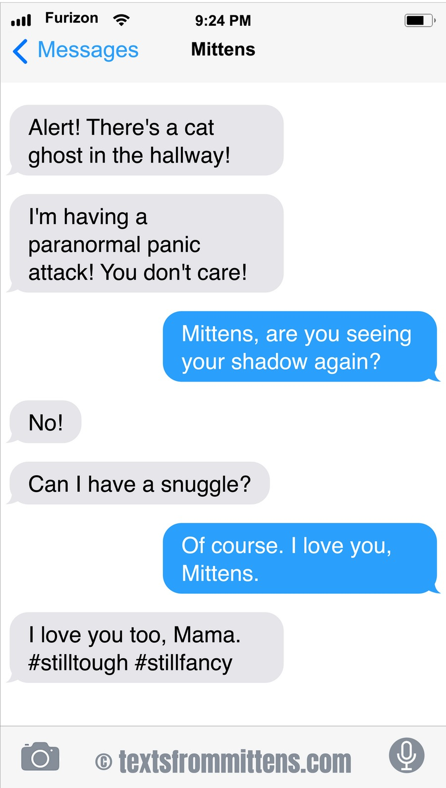 Texts From Mittens by Angie Bailey on Sun, 17 Oct 2021