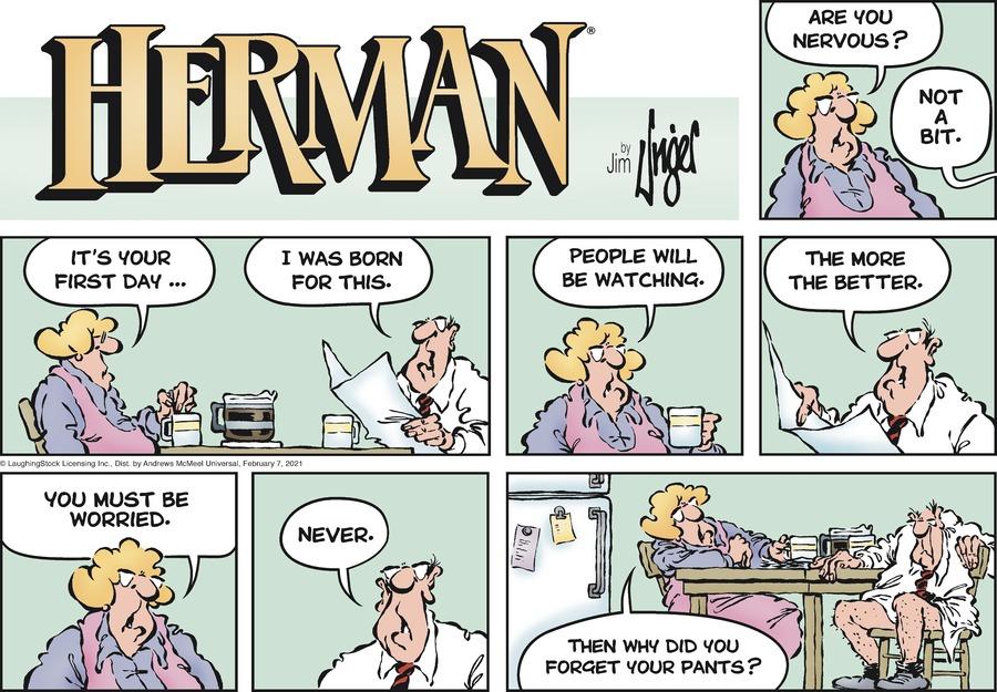 Herman by Jim Unger on Sun, 07 Feb 2021