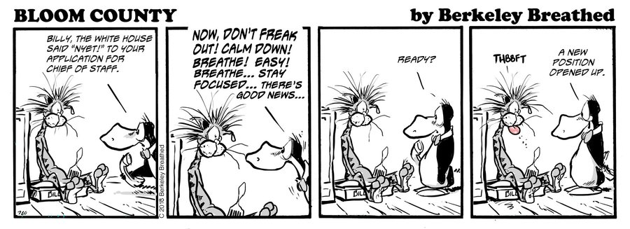 Bloom County 2018 by Berkeley Breathed for December 28, 2018