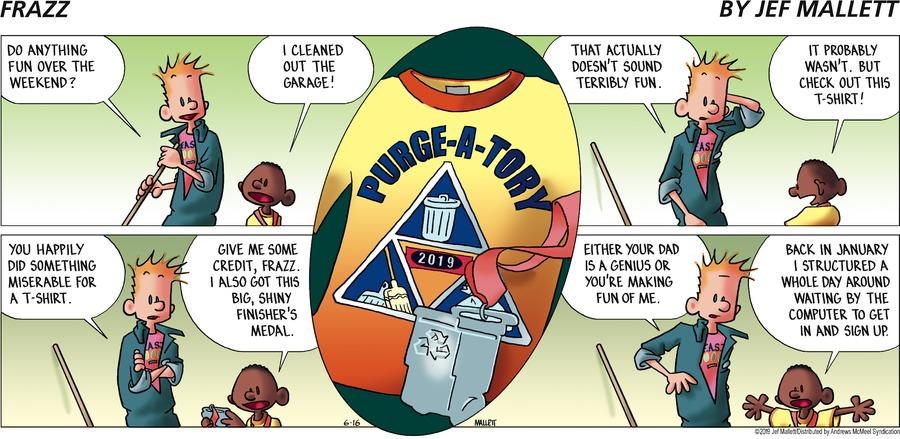 Frazz Comic Strip for June 16, 2019