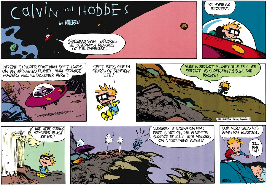 Calvin and Hobbes Comic Strip for July 03, 1988