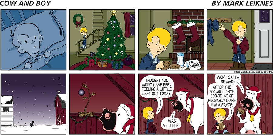 Cow and Boy Classics Comic Strip for December 24, 2006