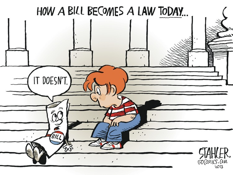 How a bill becomes a law today... it doesn't