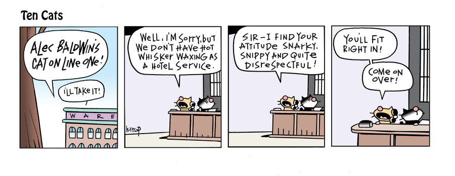 Ten Cats Comic Strip for September 25, 2021