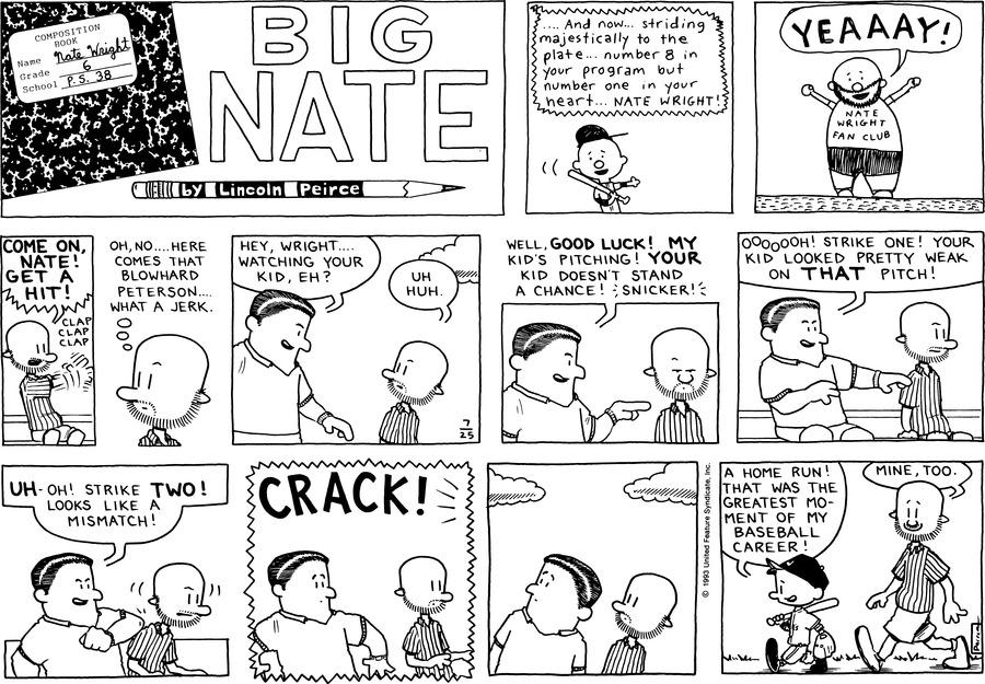 Big Nate Comic Strip for July 25, 1993