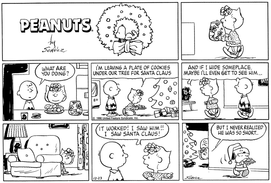 Peanuts Comic Strip for December 23, 1990