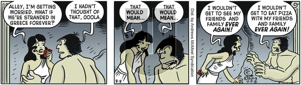 Alley Oop - Thursday August 8, 2019 Comic Strip