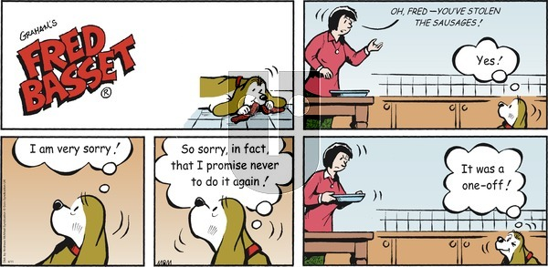 Fred Basset on Sunday April 11, 2021 Comic Strip