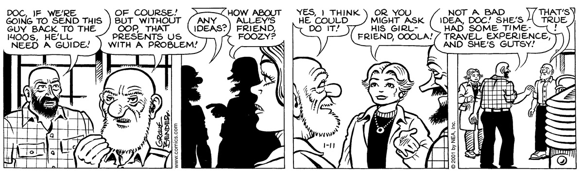 Alley Oop for Jan 11, 2001 Comic Strip