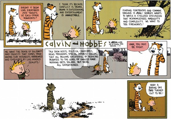 Calvin and Hobbes on Sunday November 29, 2015 Comic Strip