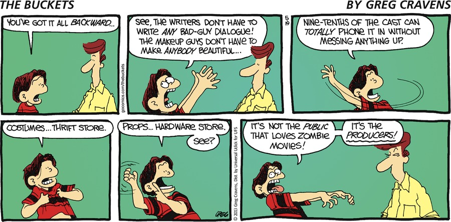 The Buckets Comic Strip for May 19, 2013