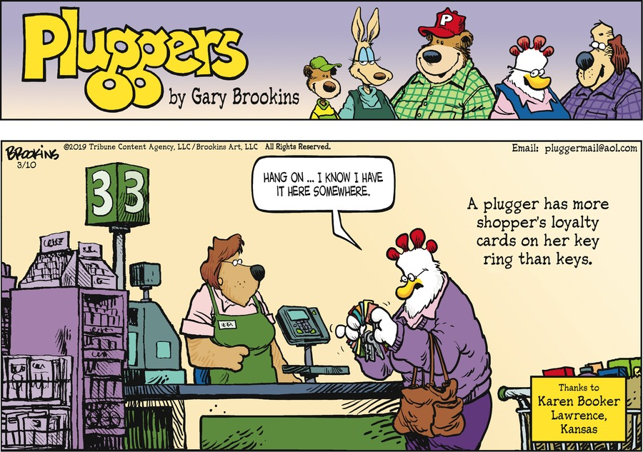 Pluggers Comic Strip for March 10, 2019