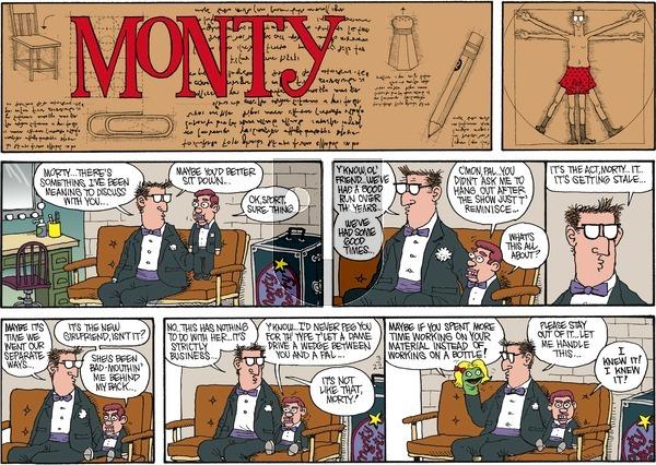 Monty on Sunday March 22, 2015 Comic Strip
