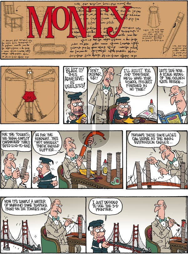 Monty on Sunday March 17, 2019 Comic Strip