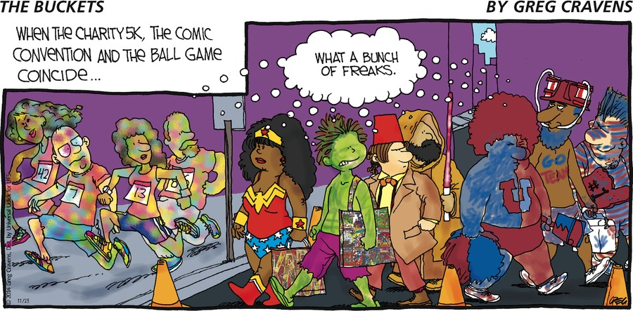 The Buckets Comic Strip for November 23, 2014