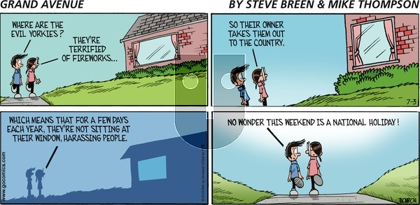 Grand Avenue on Sunday July 3, 2016 Comic Strip