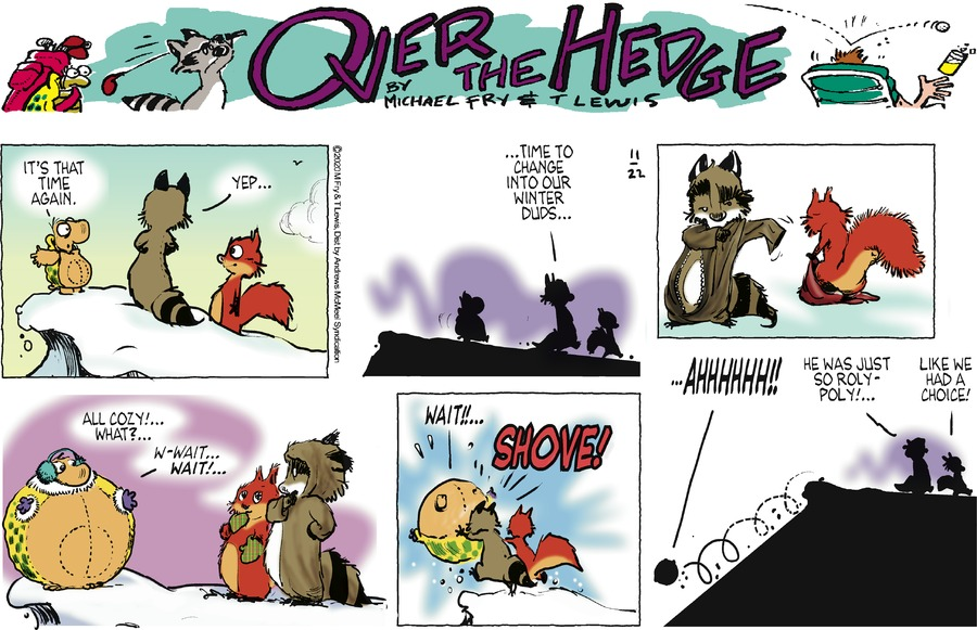 Over the Hedge Comic Strip for November 22, 2020