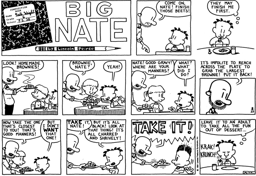 Big Nate: First Class Comic Strip for August 30, 2015
