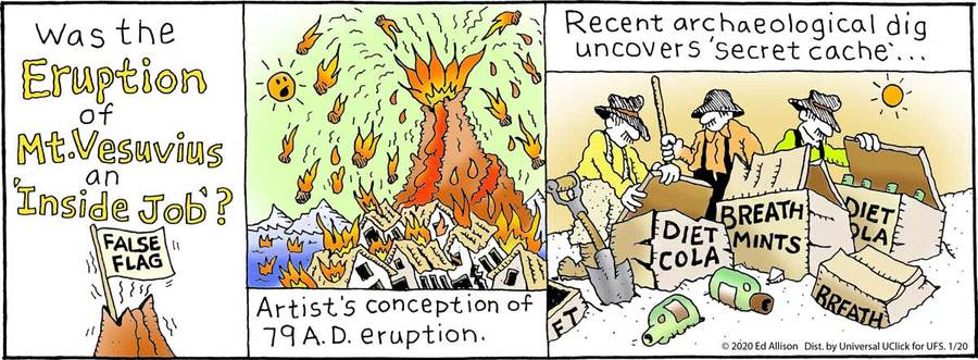Unstrange Phenomena Comic Strip for January 20, 2020