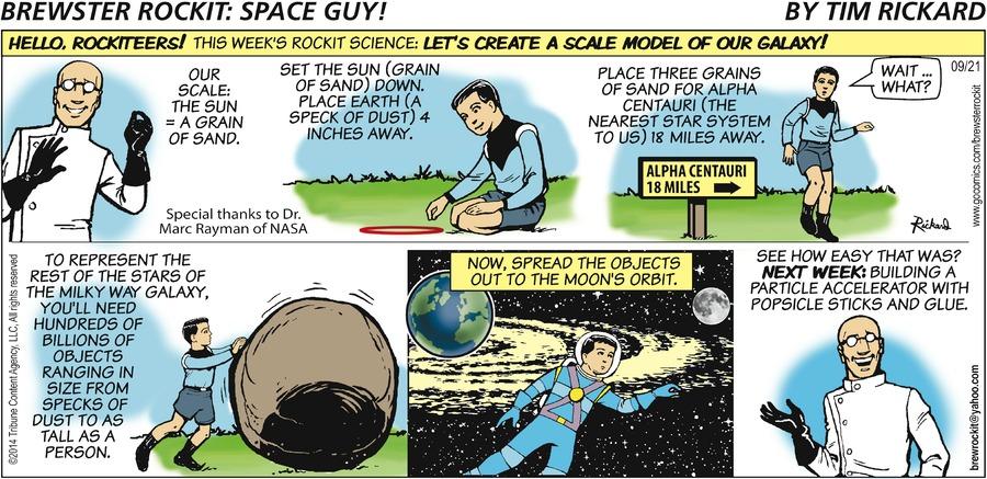 Brewster Rockit Comic Strip for September 21, 2014