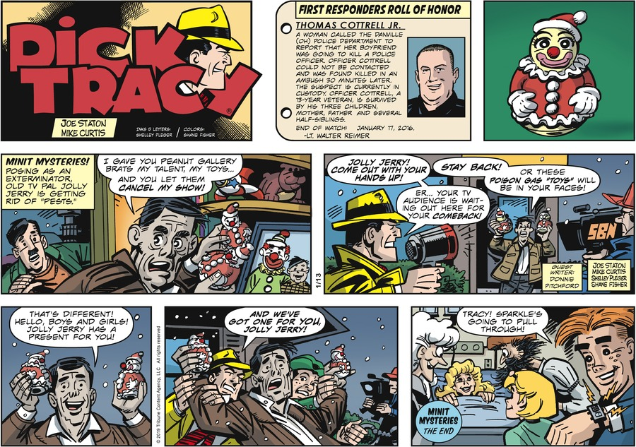 Dick Tracy Comic Strip for January 13, 2019