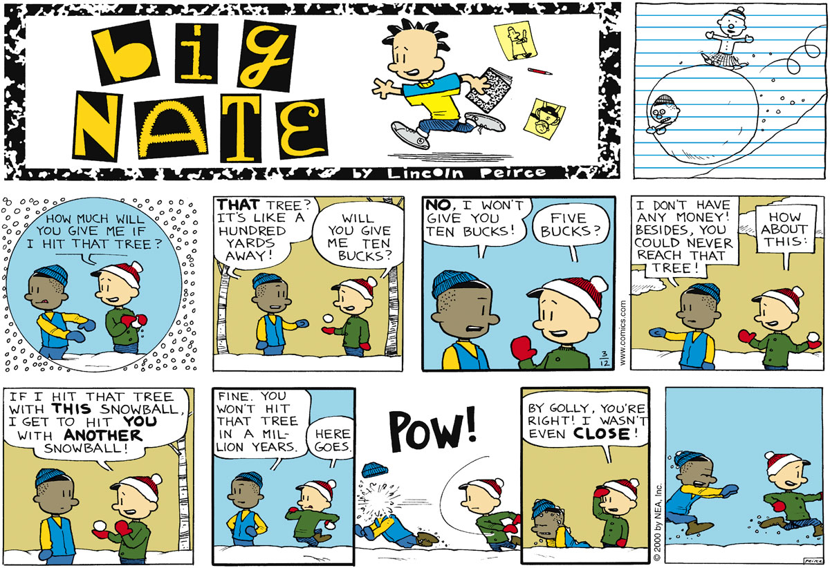 Big Nate Comic Strip for March 12, 2000
