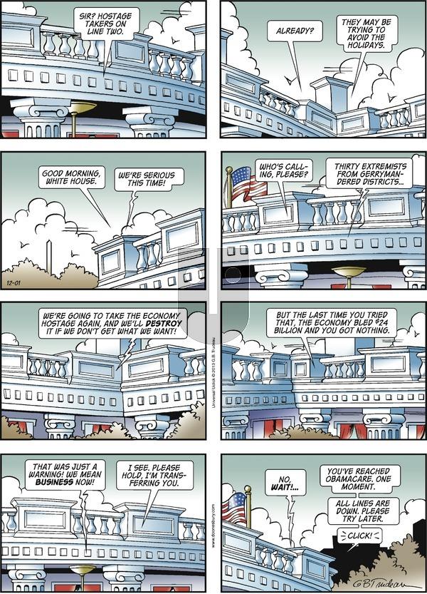 Doonesbury on Sunday December 1, 2013 Comic Strip