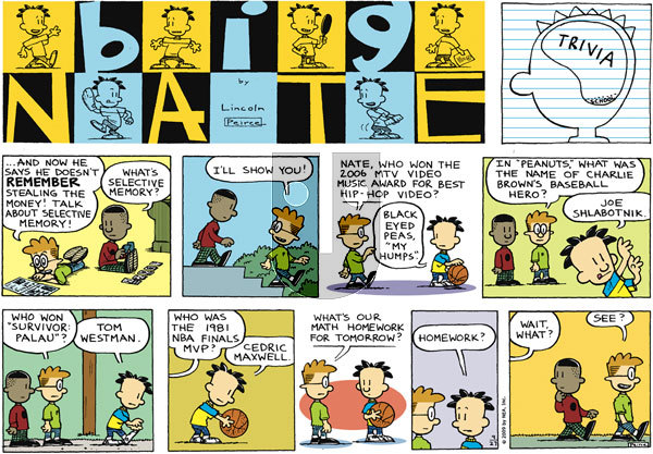 Big Nate on Sunday September 27, 2009 Comic Strip