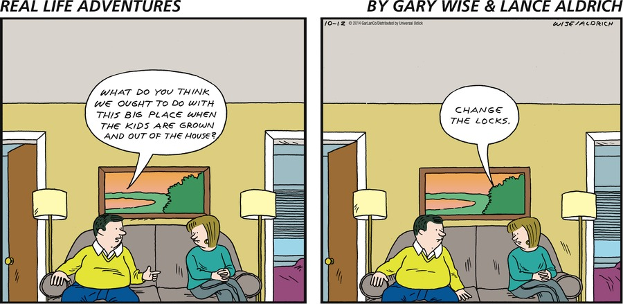Real Life Adventures for Oct 12, 2014 Comic Strip