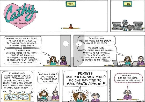 Cathy Classics on Sunday July 25, 2010 Comic Strip