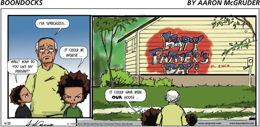 The Boondocks for Aug 31, 2014 Comic Strip