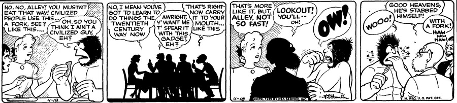 Alley Oop Comic Strip for April 18, 1939