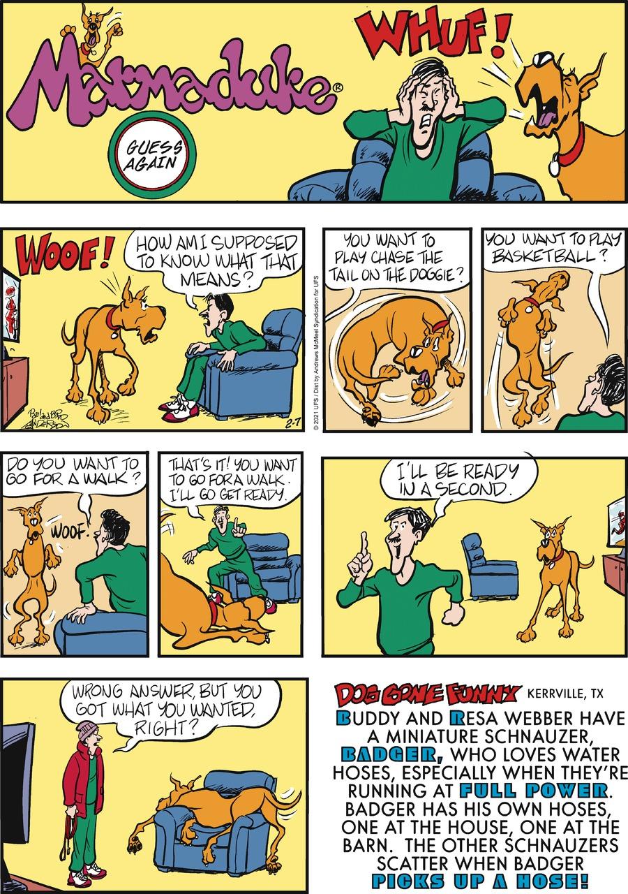 Marmaduke Comic Strip for February 07, 2021