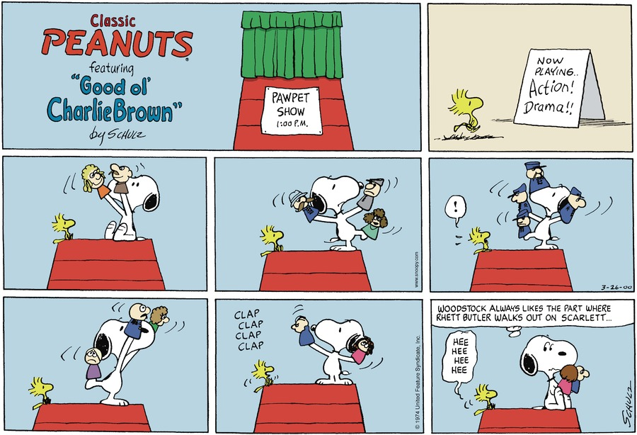 Peanuts Comic Strip for March 26, 2000