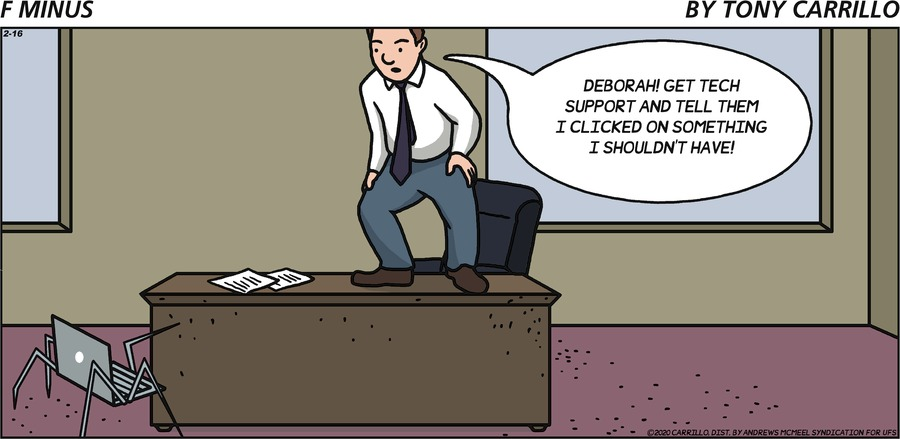 F Minus Comic Strip for February 16, 2020