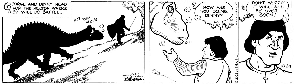 Alley Oop for Oct 29, 2002 Comic Strip