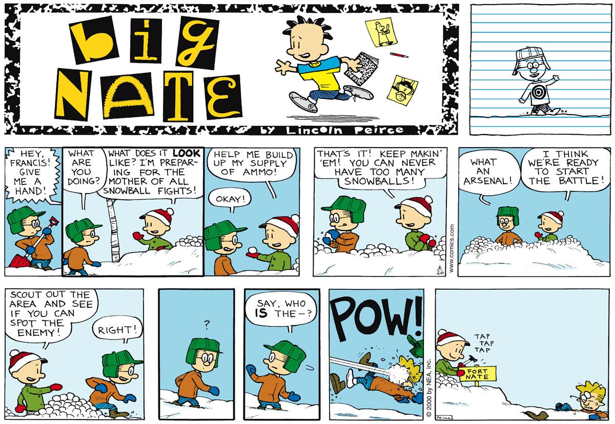 Big Nate Comic Strip for February 20, 2000