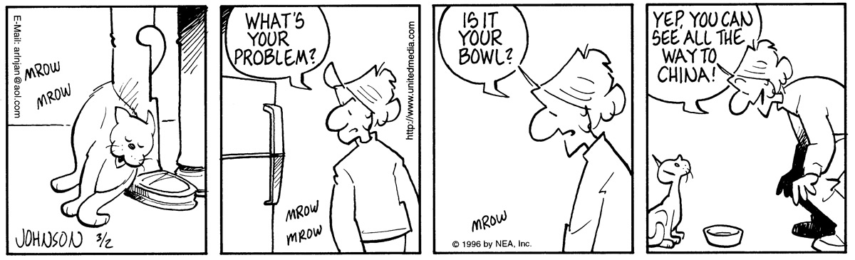 Arlo and Janis Comic Strip for March 02, 1996