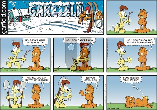 Garfield on Sunday January 28, 2018 Comic Strip
